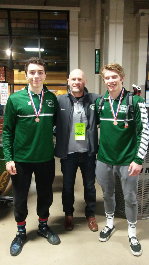Seniors Isaac Torrey and Keegan Moore finish their wrestling careers placing 3rd and 5th at the State meet