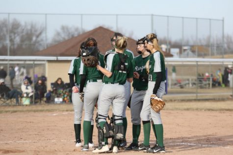 Varsity softball picks up two OK white wins in grand fashion on opening day