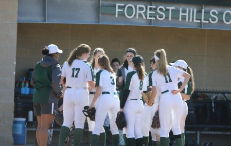 Varsity softball wins after offensive explosion and lights-out pitching performance