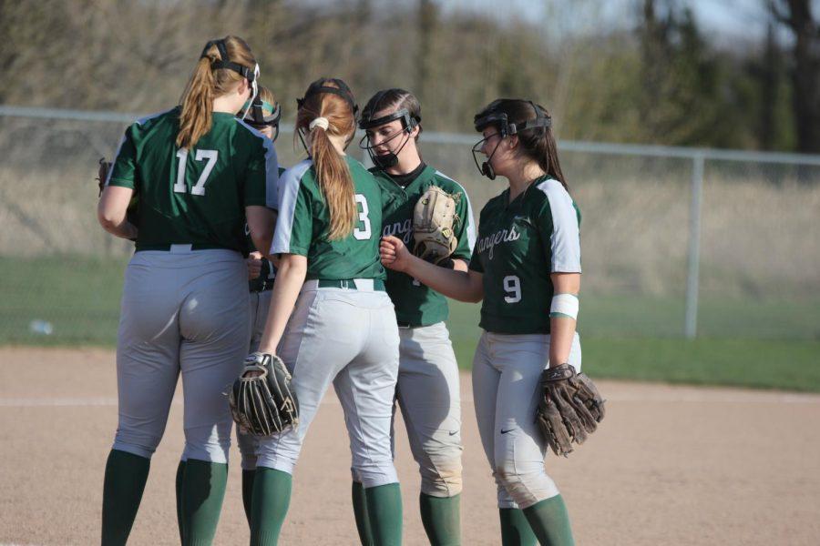 Girls varsity softball completes the season sweep of Cedar Springs 9-3