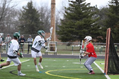 Boys varsity lacrosse beats Battle Creek Pennfield 21-2