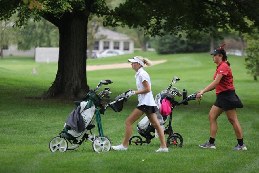 Girls+varsity+golf+places+second+at+Belding+jamboree