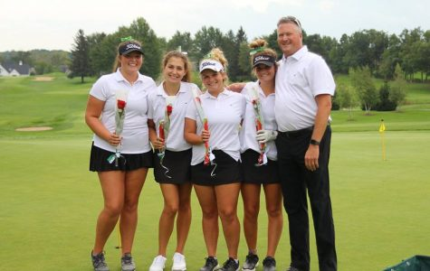 Girls varsity golf places second on Senior Night