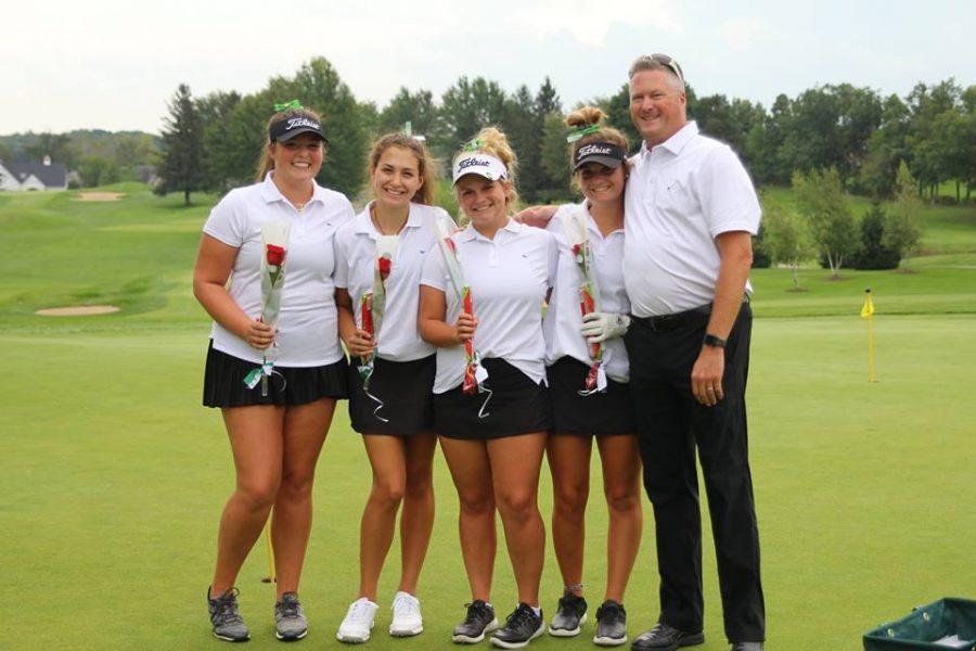 Girls+varsity+golf+places+second+on+Senior+Night