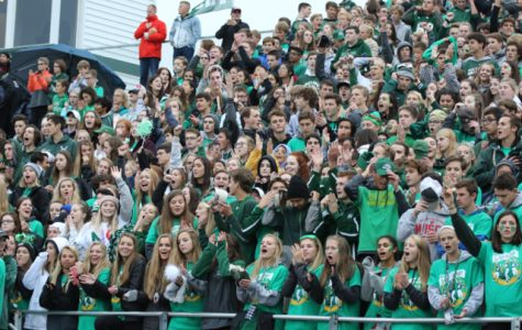 FHC Homecoming parade, student section, band, cheerleaders, & dance team – Sept. 28, 2018
