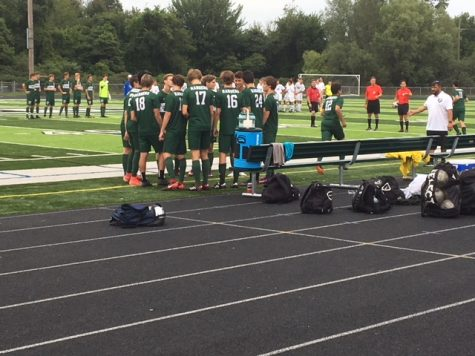 Boys varsity soccer defeats rival East Grand Rapids 2-1 in third straight win