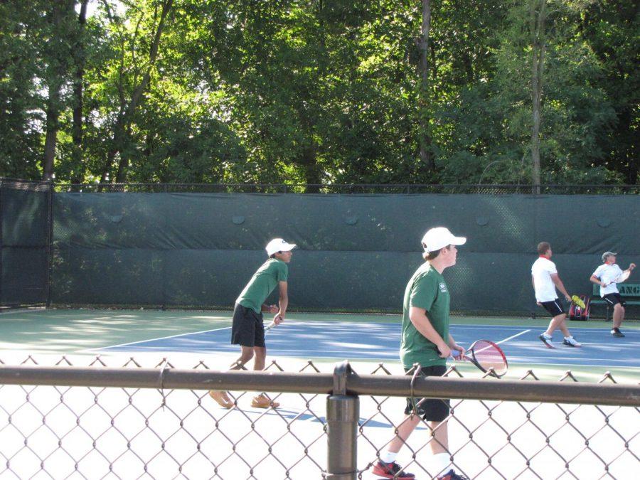 Boys varsity tennis dominates against Lowell 6-2
