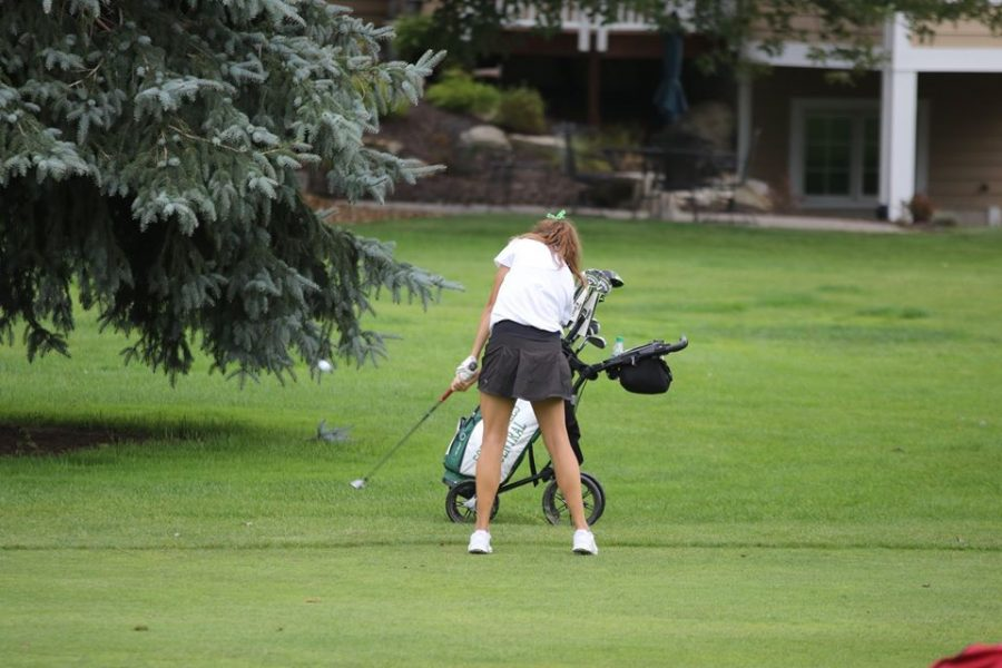 Girls+varsity+golf+earns+second+place+in+the+OK+White