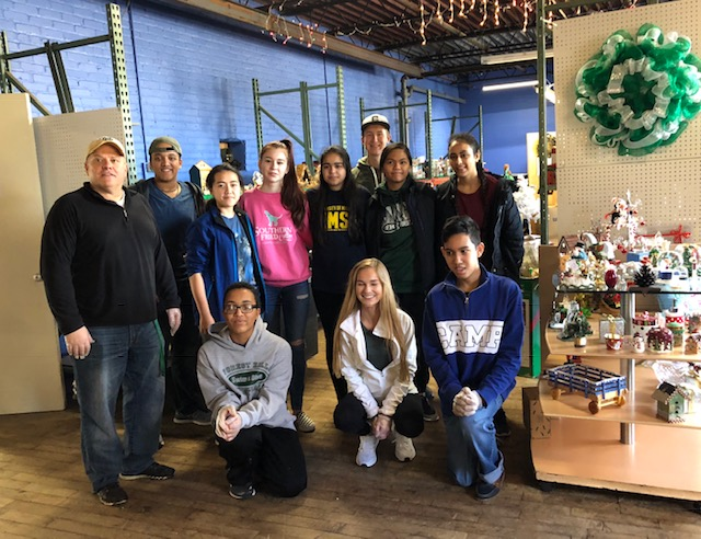 Students lend their time to St. Vincent De Paul Thrift Store and other charitable causes throughout the community
