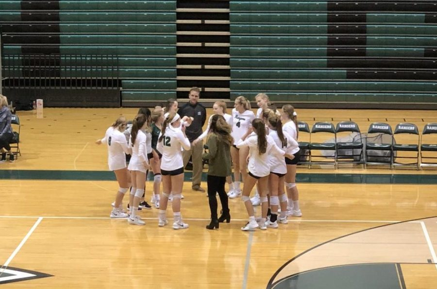 Varsity volleyball earns a win over Greenville 3-1