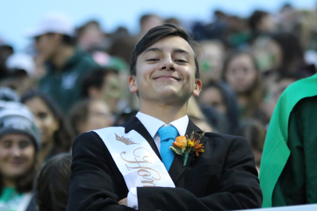 On the sideline with Sports Report #1: Student section leader Vaughn Rodriguez