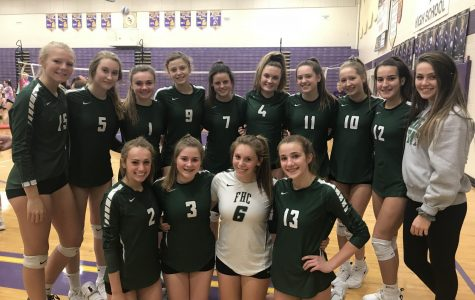 Girls JV volleyball claims conference championship with a record of 11-1