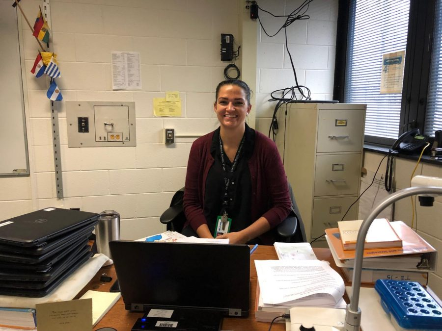 New English teacher Caitlin Young captures the attention of her students