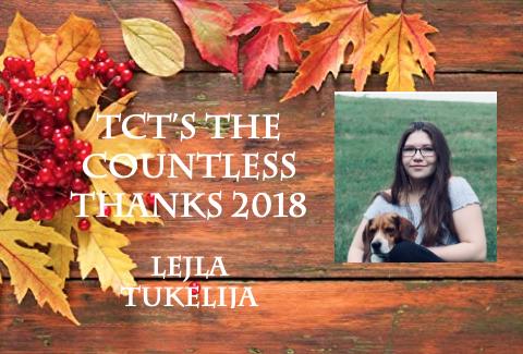 TCT's The Countless Thanks 2018: Lejla Tukelija