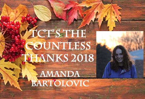 TCTs The Countless Thanks 2018: Amanda Bartolovic