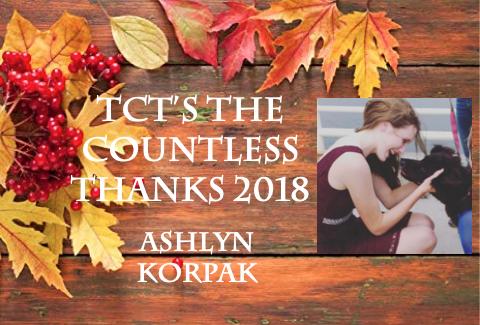 TCTs The Countless Thanks 2018: Ashlyn Korpak