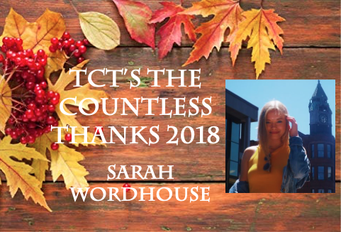 TCT's The Countless Thanks 2018: Sarah Wordhouse
