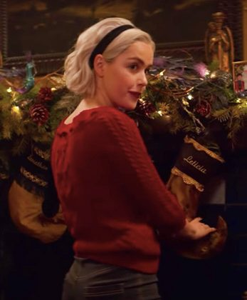 """A witchs cackle replaces """"ho ho ho"""" in The Chilling Adventures of Sabrina Christmas Special: A Midwinters Tale"""