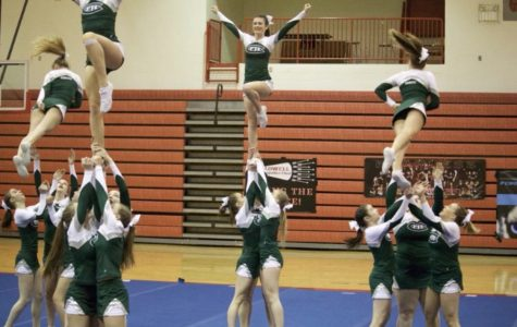Competitive cheer places third in the first OK White Conference Meet of the season