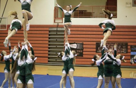 Competitive cheer scores high at the Comstock Park Invite