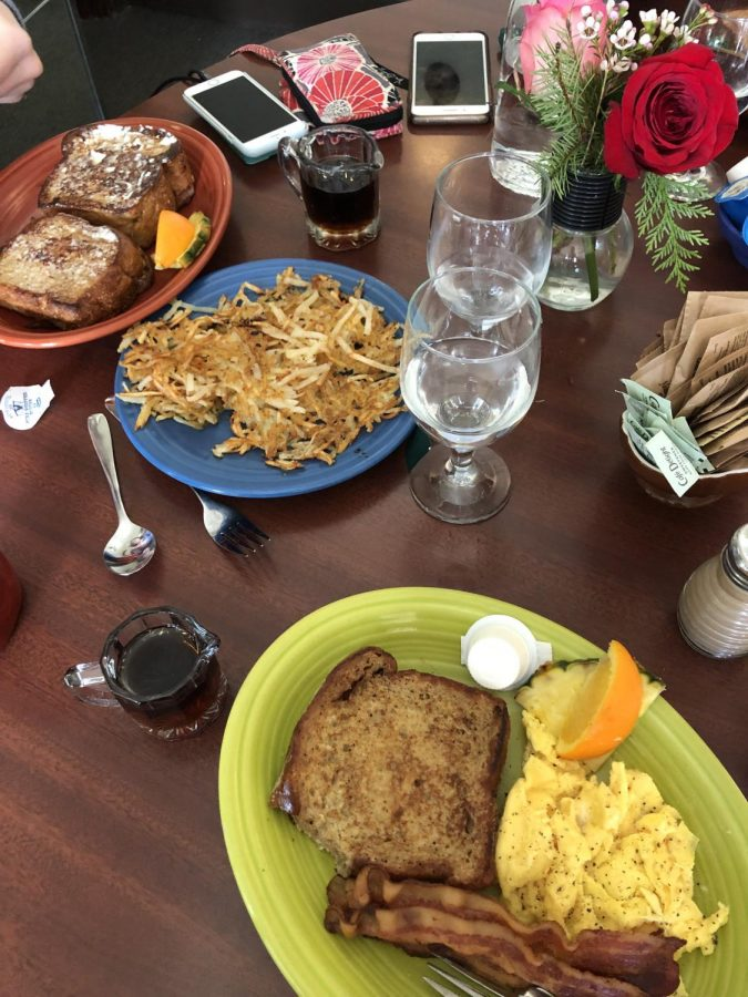 Typical breakfast foods are accompanied by not-so-typical tastes at Cherie Inn