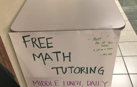 Tracy Will begins generously offering free math tutoring during second lunch