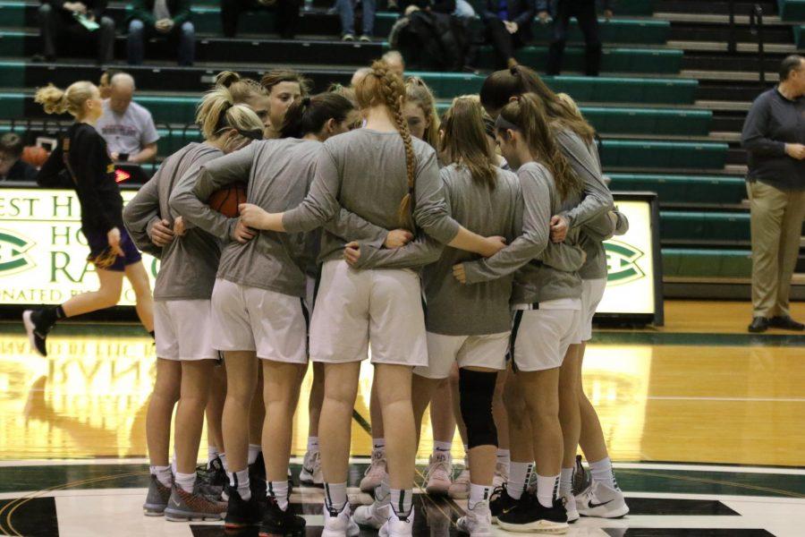 Girls varsity basketball gets upset for season-ending loss