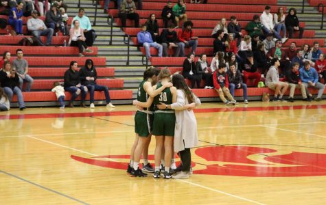 Girls varsity basketball drops road game to Greenville 54-48