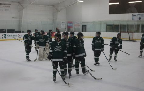 Hockey ties GR Christian in regular-season finale on Senior Night