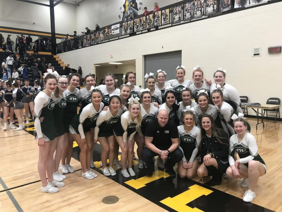 Competitive cheer secures fifth place at Regionals