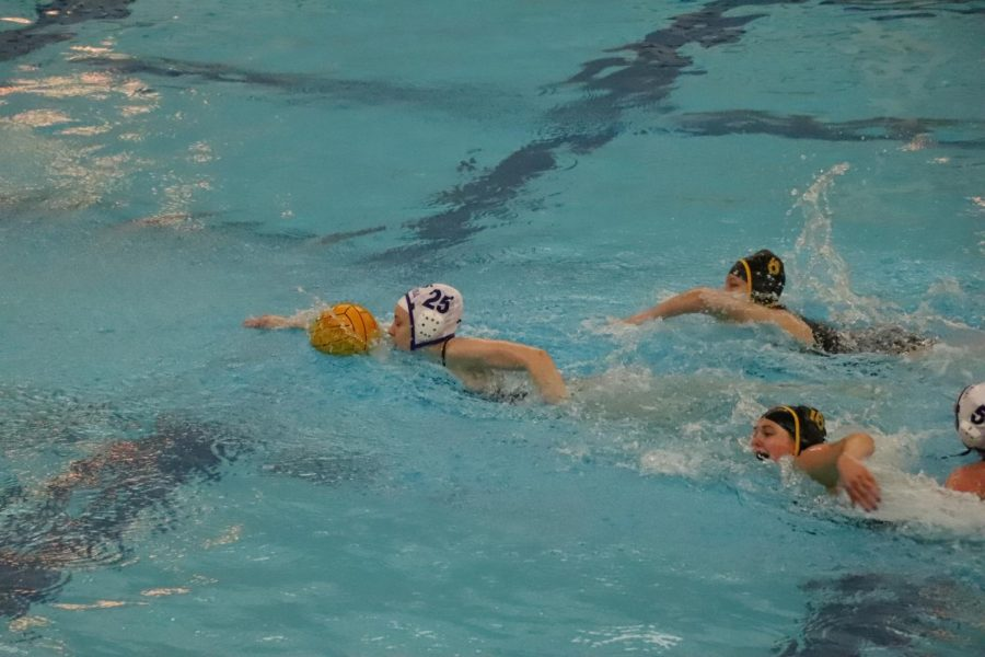 Girls varsity water polo picks up second win of the season at this weekends tournament