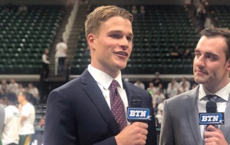 Joe Freihofer has found many opportunities at MSU to pursue his love for sports reporting