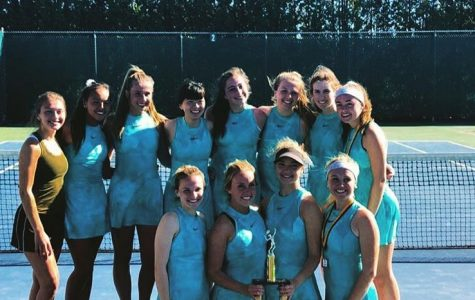 Girls varsity tennis improves each match and places top ten at state tournament