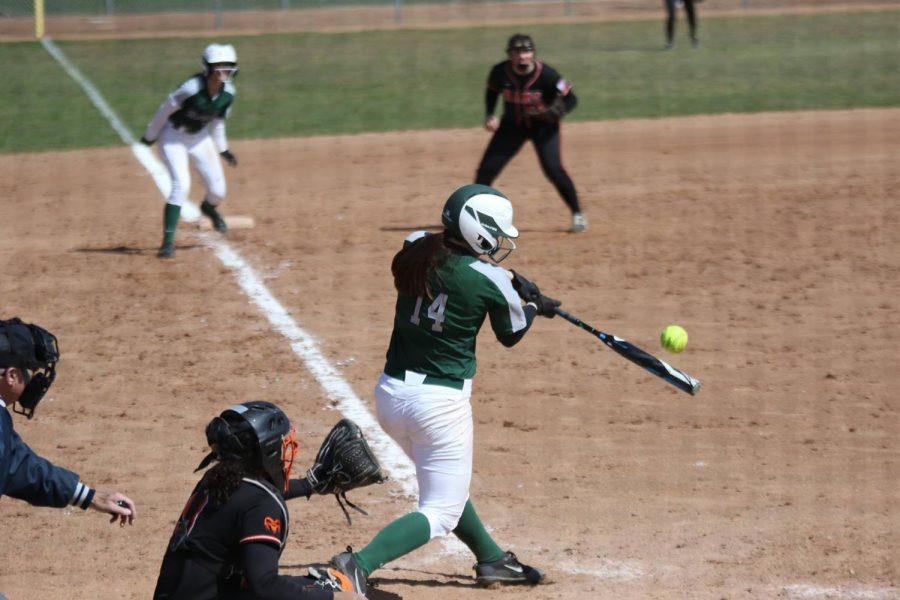 Varsity+softball+sweeps+Cedar+Springs+in+final+game+of+the+series+16-3