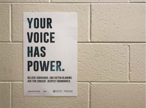 In light of Sexual Assault Awareness Month, Annie Seeber hopes to increase education and support with hallway posters