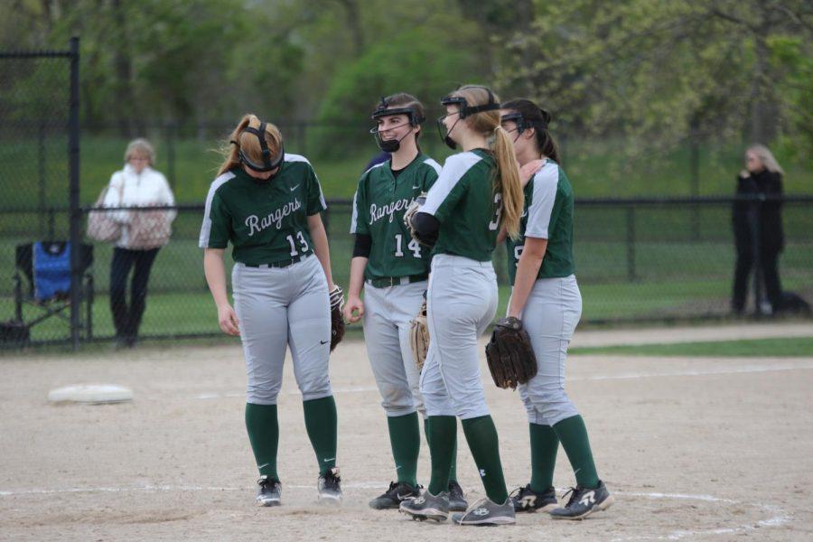 Varsity softball splits double header with South Christian