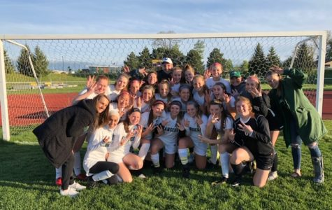 Girls varsity soccer clinches OK White Conference championship with a commanding 8-0 win over Greenville