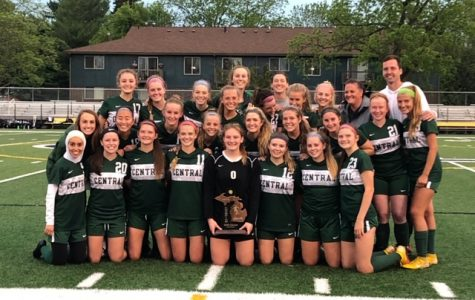 Girls varsity soccer defeats Okemos 2-0 to claim second District title in three years
