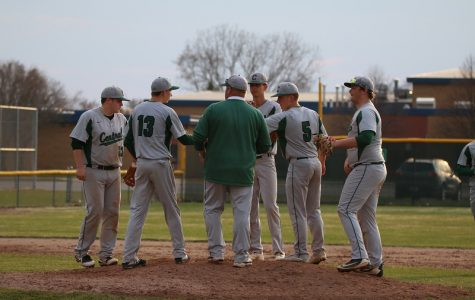 Varsity baseball completes the sweep over Greenville