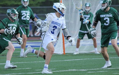 Jackson Clay and Carson Deines combine for 10 goals as boys varsity lacrosse takes down defending state champion Detroit Catholic Central
