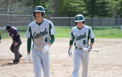 Varsity baseball earns two conference wins on Senior Night