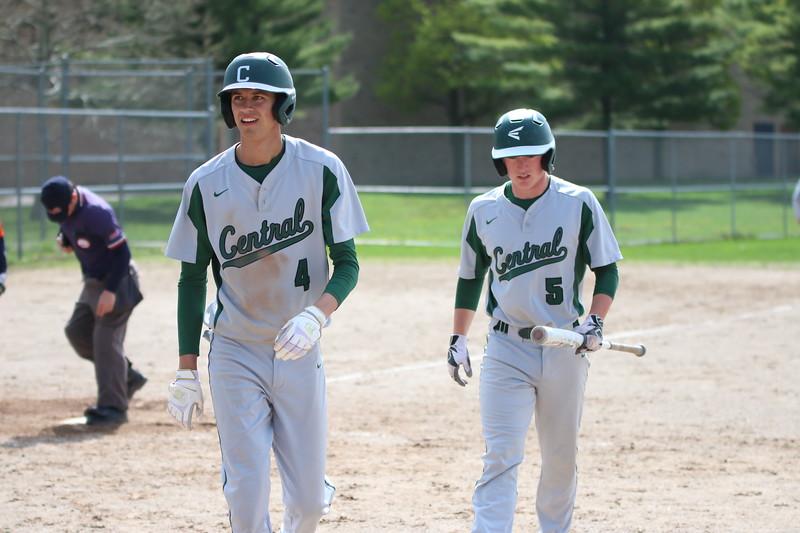 Varsity baseball earns two conference wins on Senior Night
