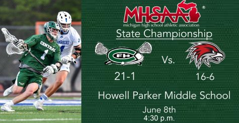 Boys varsity lacrosse scores 17 goals in the first half against Orchard Lake St Mary's to clinch State title game birth
