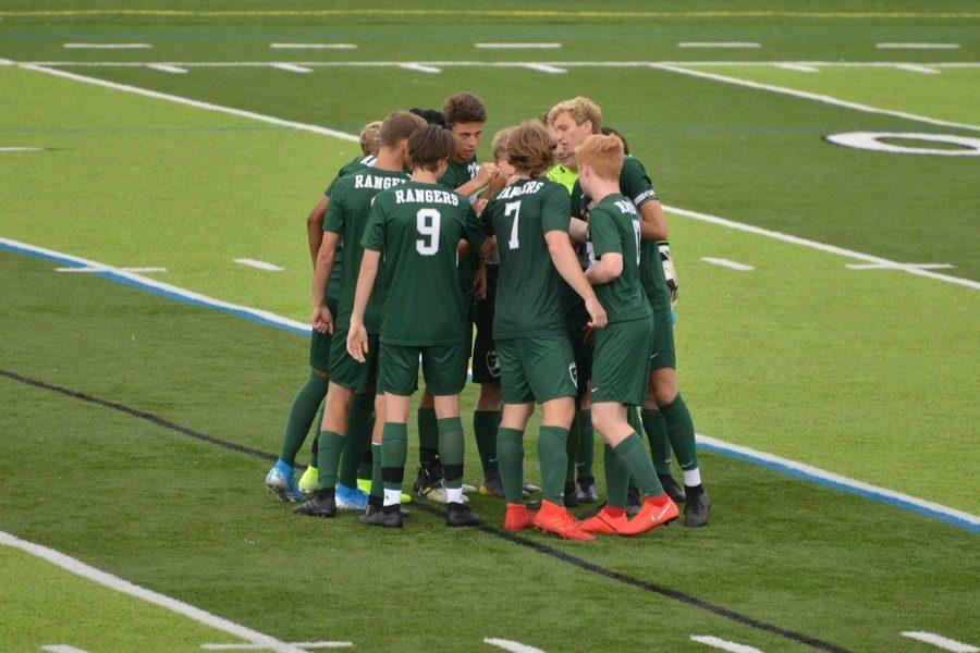 Sammy Postlewaits four goals helps boys varsity soccer blow past Greenville 8-1