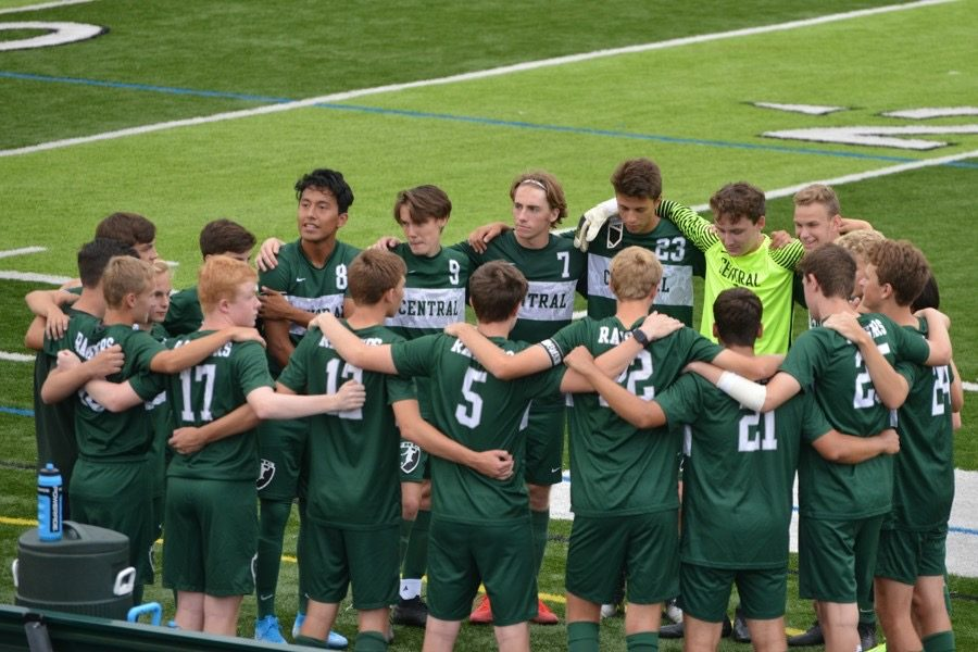 Boys varsity soccer suffers a 3-1 loss to East Kentwood on opening night