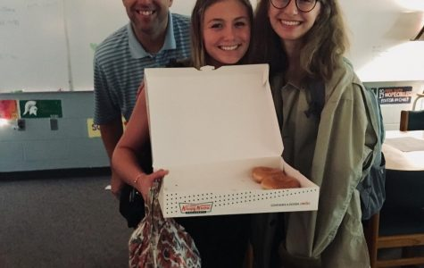 The staff of The Central Trend tackles fundraising with weekly doughnut sales