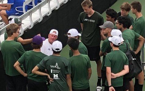 Boys varsity tennis sweeps Cedar Springs 8-0
