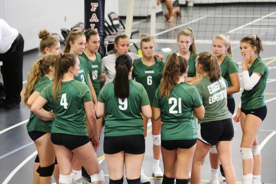 Freshman volleyball Sweeps Forest Hills Northern in Two Sets