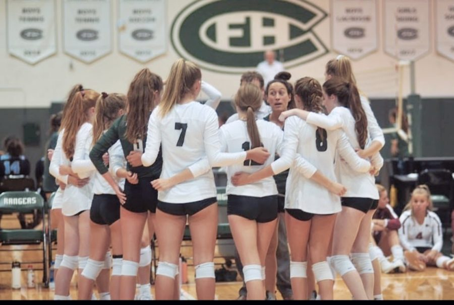 Varsity volleyball beats FHN Huskies for a second time this season