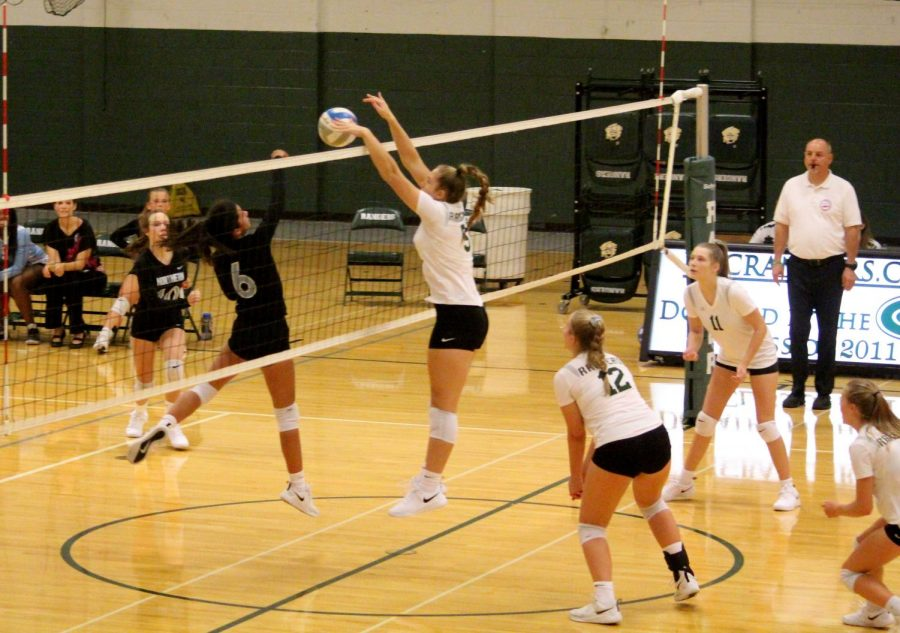 Freshman girls volleyball stuffs their competition at the MSA Fieldhouse tournament